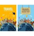 travel journey trip logo design template vector image vector image
