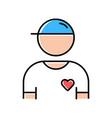 volunteer color icon charity organization member vector image vector image