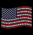 waving united states flag stylization of life star vector image vector image