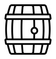 wood whiskey barrel icon outline style vector image vector image