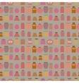 Mason jars seamless pattern Flat style vector image