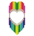 heart of colored pencils vector image