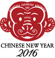 2016 New Year Of The MonkeyChinese ZodiacChinese vector image