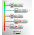 5 steps timeline infographic element vector image