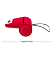 A Whistle of The Kingdom of Tonga vector image