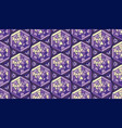 abstract pattern in mosaic stained-glass style vector image