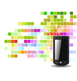 abstract phone vector image vector image