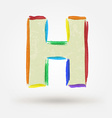 Alphabet letter H Watercolor paint design element vector image vector image