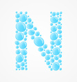 Alphabet Letter N vector image vector image