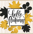 autumn hand drawn lettering vector image vector image