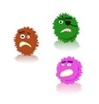 bacteria and germs various types and forms vector image