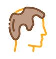 balding man profile icon outline vector image vector image