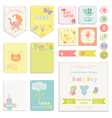 bashower or arrival set - tags banners vector image