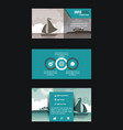 beach and travel brochure infographic vector image vector image