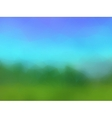 beautiful stylized landscape vector image