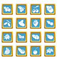 berries icons set sapphirine square vector image vector image