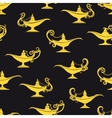Black and yellow magic lamps pattern vector image vector image