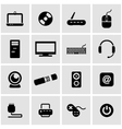 black computer icon set vector image vector image