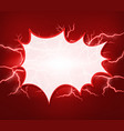 blank splash on red thunders background vector image vector image