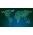 Blurred edge map vector image vector image