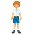 Boy in uniform vector image vector image