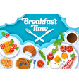 breakfast time poster banner template vector image