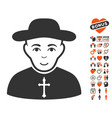 christian priest icon with lovely bonus vector image vector image