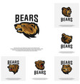 collection of bear logo design modern vector image vector image