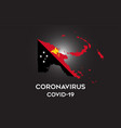 coronavirus in papua new guinea and country flag vector image vector image