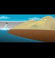 dam reservoir vector image vector image