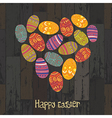 easter eggs heart shaped vector image