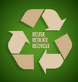 Ecology concept Reuse Reduce Recycle concept on vector image