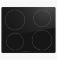 electric black induction modern stove vector image vector image