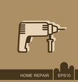 electric hammer drill icon vector image vector image