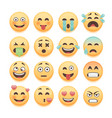 emoticons set emoji set smiley collection vector image