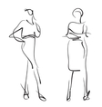 Fashion models Sketch vector image vector image