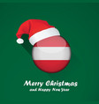 flag of austria merry christmas and happy new vector image