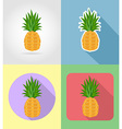 fruits flat icons 01 vector image vector image