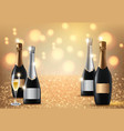 glasses champagne on light background vector image