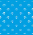 gmo free health pattern seamless blue vector image vector image