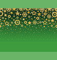 green christmas card with frame of golden vector image vector image