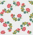 hand drawn flowers roses branch leaves seamless vector image vector image