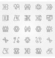 Human cloning icons set vector image