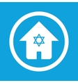 Jewish house sign icon vector image