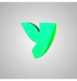 Letter Y comic style font EPS10 vector image