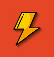 lightning ray or bolt imag vector image