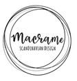 macrame logo vector image