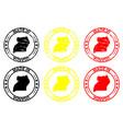 made in uganda rubber stamp vector image