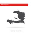 map haiti isolated black on vector image vector image