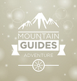Mountain guides adventure vector image vector image